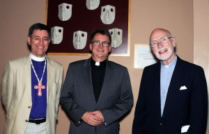 Photo of current and two former presidents of Thorneloe University