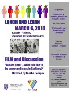 March 6 Lunch and Learn Poster